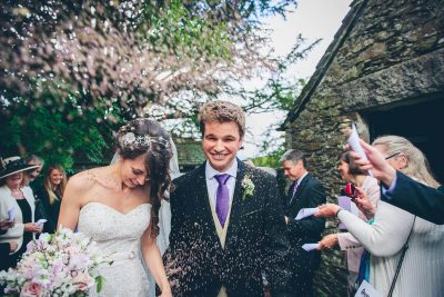 Jesse Knibbs Photographer - Lake District Wedding confetti