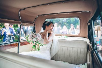 Jesse Knibbs Photographer - Lake District Wedding inside wedding car