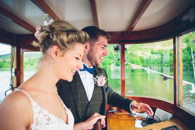 Jesse Knibbs Photographer - Lake District Wedding on boat