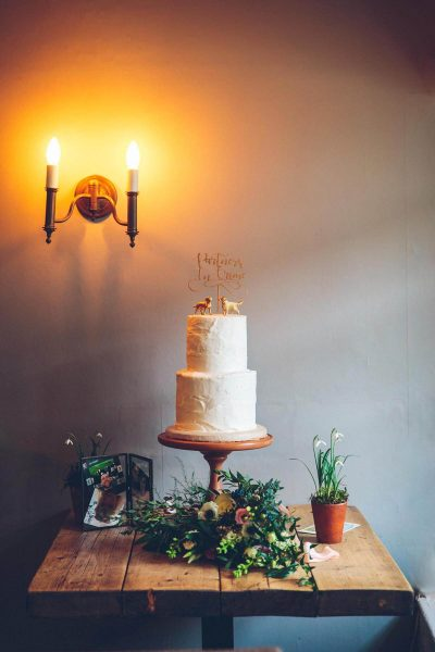 Jesse Knibbs Photographer - Lake District Wedding cake on table