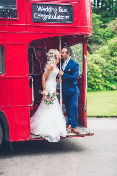 Jesse Knibbs Photographer - Lake District Wedding red bus kiss